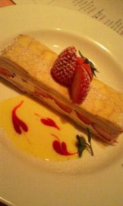 デザートは苺のミルクレープ♪